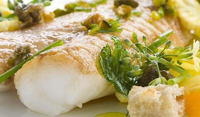 Pan fried New Zealand orange roughy